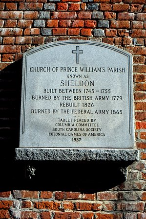 Yemassee, Güney Carolina: Old Sheldon Prince William's Parish Church