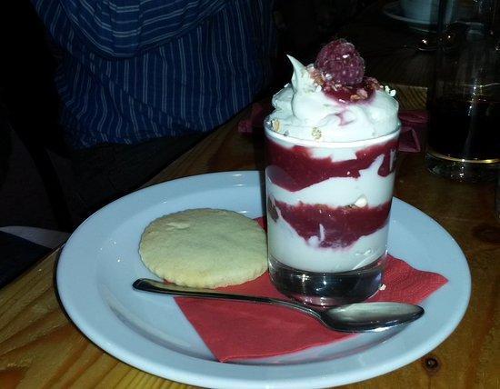 Grantown-on-Spey, UK: Raspberry cranachan