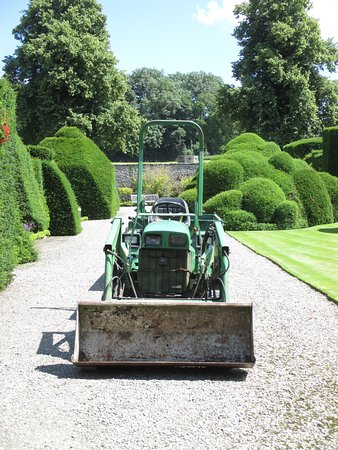 Kendal, UK : The small tractor at Levens Hall.