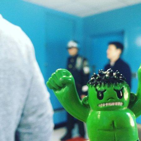 Paju, Corea del Sur: Hulk was ready for a photo op.