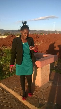Machakos, Kenya: In a happy mood:)
