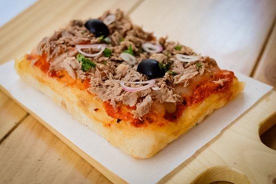 Slice of Del Mar pizza