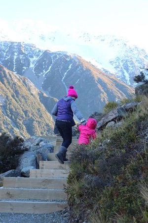 Mt. Cook Village, Nieuw-Zeeland: Track well maintained