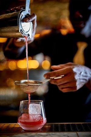 Cocktails at Blind Spot, inside St Martins Lane Hotel