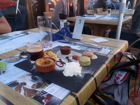 Grandcamp-Maisy, ฝรั่งเศส: café gourmand
