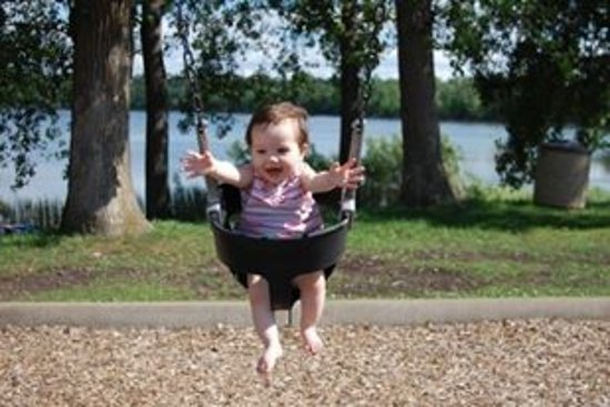 Plymouth, MN: Fun at the swing at Parker's Lake playground