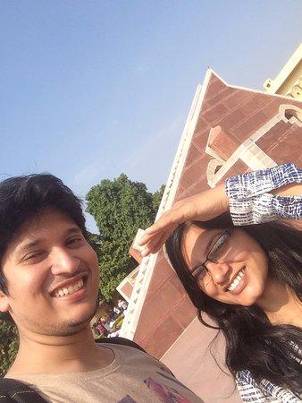 Jantar Mantar - Jaipur: I and Kavi at Jantar Mantar