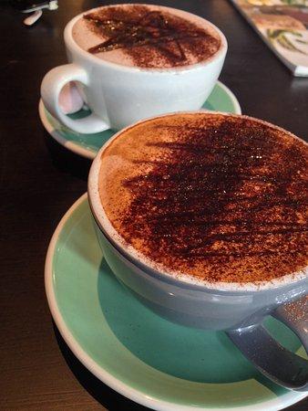 Kerikeri, Nueva Zelanda: Beautiful almond milk mocha.