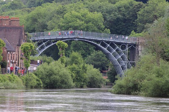 View of the Ironbridge taken on a zoom lens.