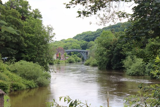 View taken of the Ironbridge from the Museum.