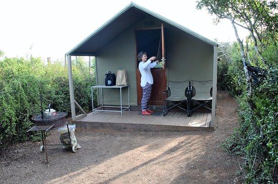 Addo Elephant National Park, แอฟริกาใต้: Comfy tent at Spekboom camp,