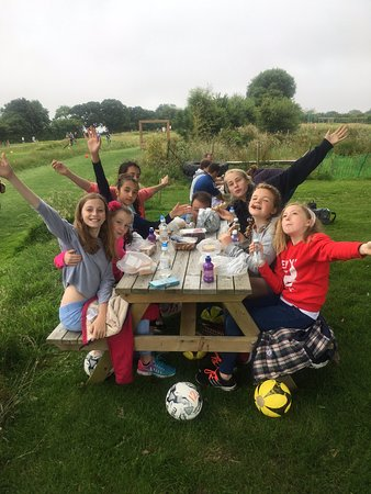 St Austell, UK: Happy Birthday Girls - on a well earned 1/2 way pic nic