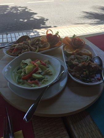 El Albir, Spagna: Lekkere thai waar je kan kiezen hoe pikant je je gerechten wil...