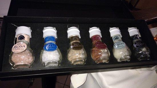 Aviano, Italia: Tipi di sale...per la ciccia!