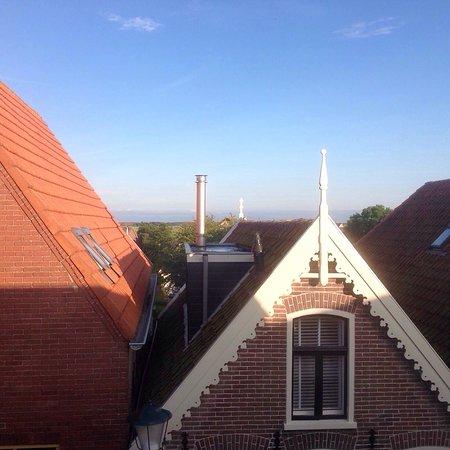 Den Hoorn, Niederlande: Blick aus unserem Zimmerfenster