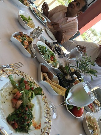 Byblos: An amazing mid day meal. This is the set menu for 8 and I'd do this for any special event. Delis