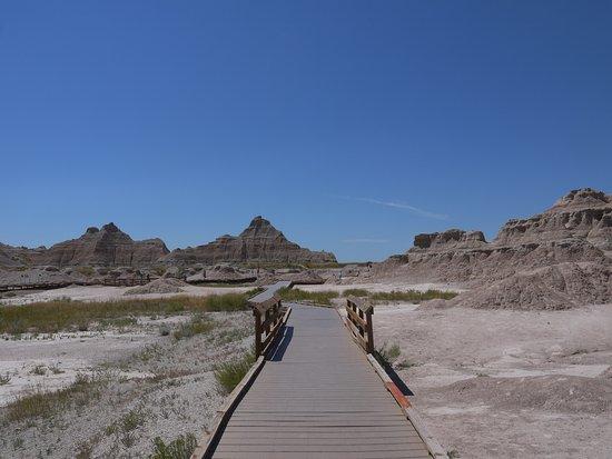 Interior, South Dakota: fossil trail