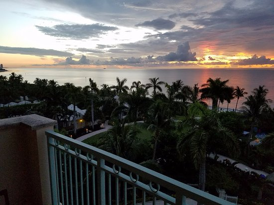 The Ritz-Carlton Key Biscayne, Miami: sunrise from balcony
