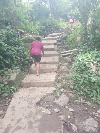 Area de Conservacion Guanacaste, Costa Rica: The walk back up from the falls