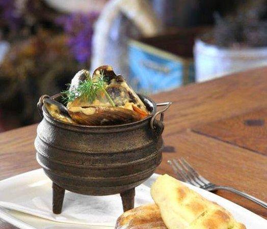 Bloubergstrand, Sudáfrica: Seafood potjie
