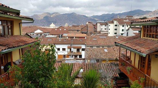 Amaru Hostal: View from balcony