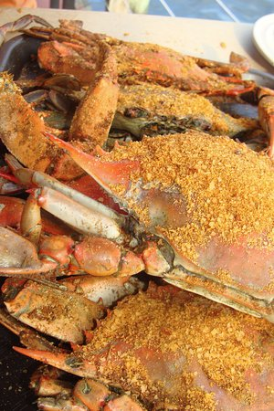 Grasonville, MD: Steamed crabs