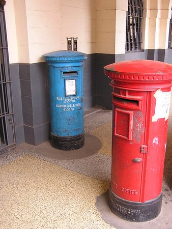 Greater Accra, Ghana: Old British post boxes from Gold coast days.