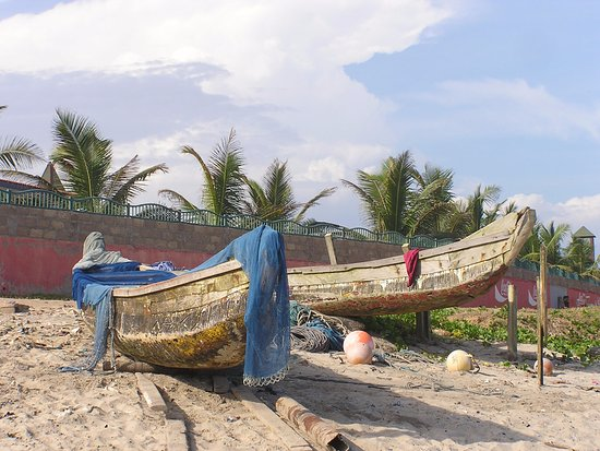 Greater Accra, Ghana: Pirogues (fishing boats) on Labadi beach.