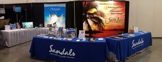 Suburban Collection Showplace: Gold Key Travel/Sandals Resort Booth at a recent Bridal Show