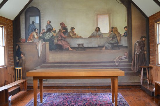 ‪‪Glendale Springs‬, ‪North Carolina‬: The Last Supper frescoe in the sanctuary‬
