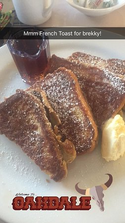 Oakdale, CA: French toast
