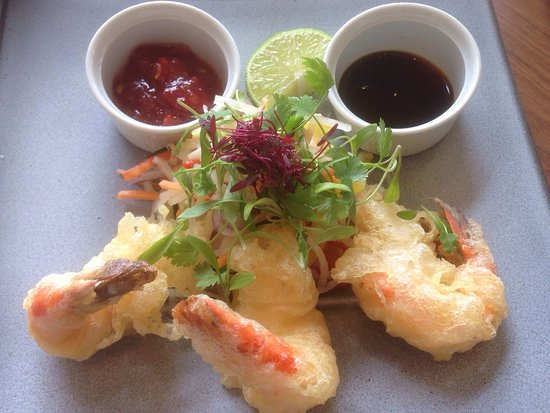 Marley Hill, UK: Tempura King Prawn starter