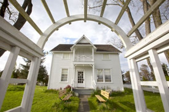 Friday Harbor, WA: The 1894 King Farmhouse, one of seven historic buildings on the museum grounds
