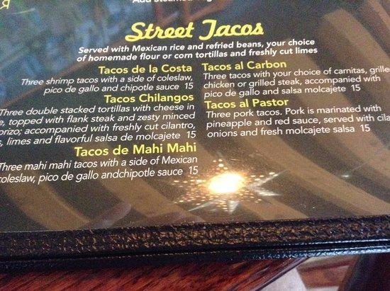 Sterling, VA: Street Tacos on menu