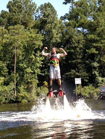 Picture Of Lifted Flyboarding