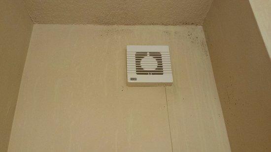 Beckington, UK: tiny fan, dirty walls