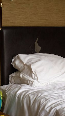 Beckington, UK: headboard wearing away