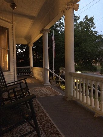 Gables: sitting on the porch swing as evening comes
