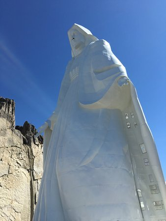 Our Lady of the Rockies: Lady of the Rockies up close