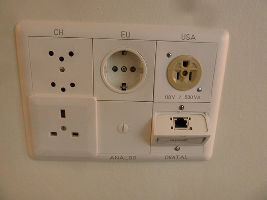 Glockenhof Zurich: outlets for different countries including USA!