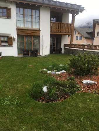 Celerina, Zwitserland: Backyard