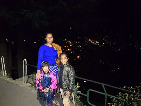 The Mall: All shimla view in night