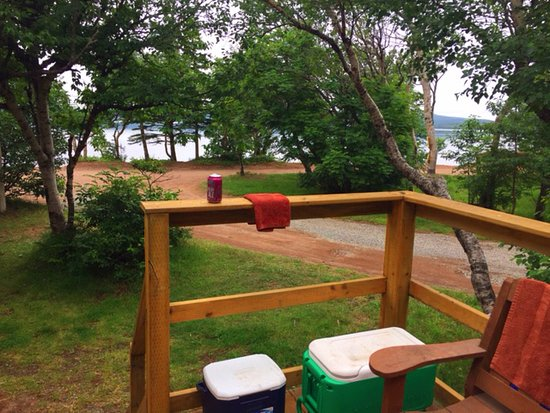 Burin, Kanada: View from our cabin to the beach
