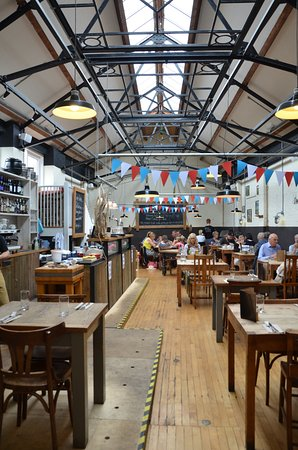 River Cottage Canteen Axminster interior view.