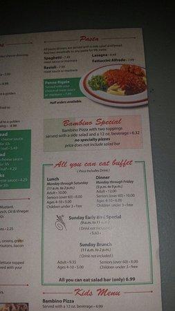 Mattoon, Ιλινόις: Menu and chef salad