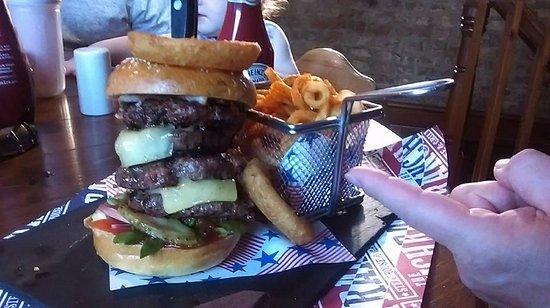 Louth, UK: Ranch Burger, 4 x 4oz burgers!!!