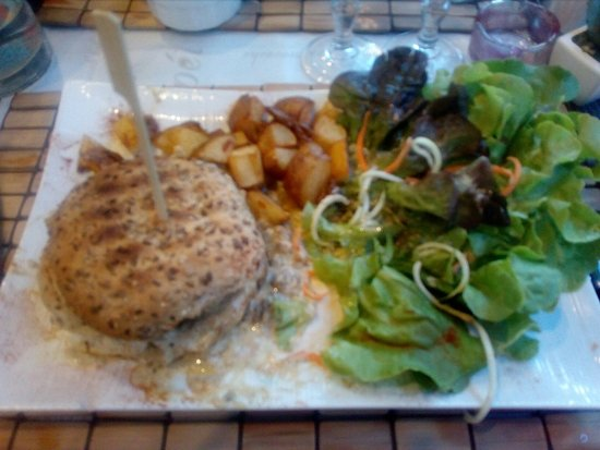 Aubagne, Frankrijk: Burger aux cepes et au foie gras!!! Somptueux!!!