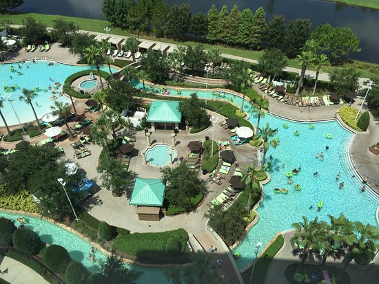 Pools and lazy river picture of hilton orlando bonnet for Pool design orlando florida