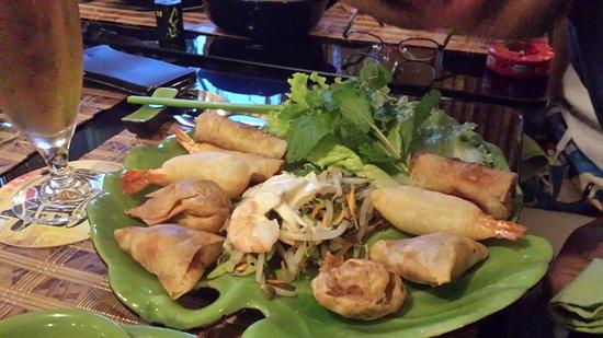 Sausheim, Frankrike: assiette SAIGON