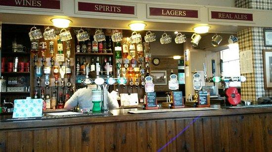 Abergele, UK: Inside  the cosy bar.
